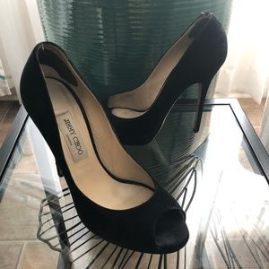 Jimmy Choo London Pumps Shoes Suede Leather